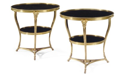 A PAIR OF FRENCH ORMOLU AND FO