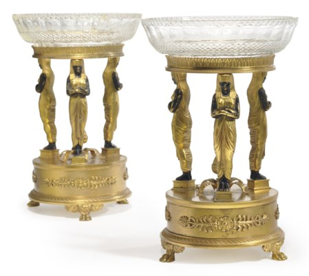 A PAIR OF FRENCH ORMOLU, CUT-G