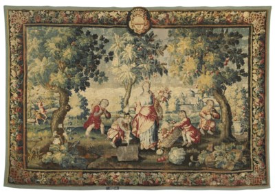 A FRENCH ALLEGORICAL TAPESTRY