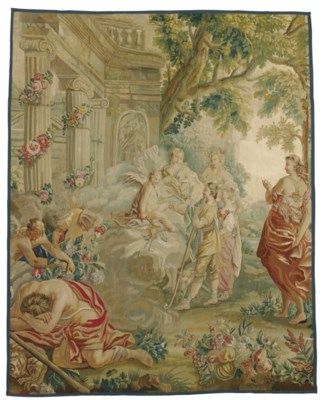 A FRENCH PASTORAL TAPESTRY FRA
