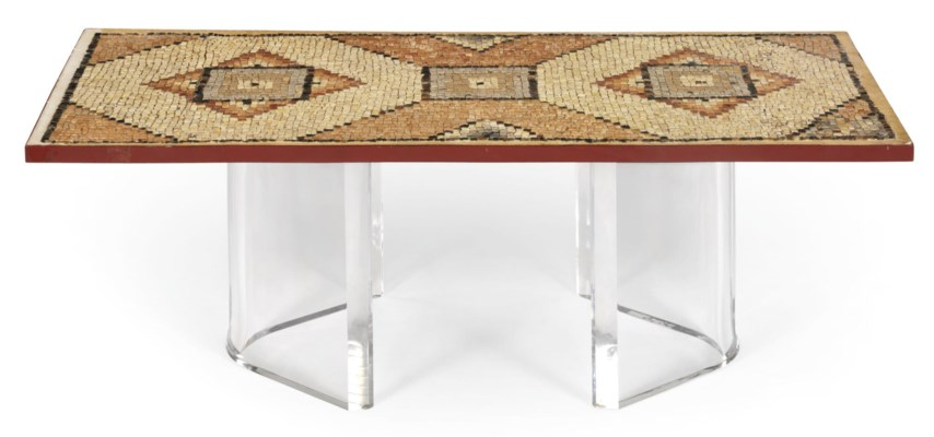 AN ITALIAN MOSAIC TABLE TOP