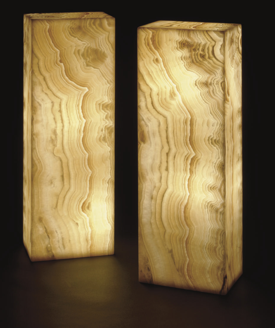 A PAIR OF ALABASTER LAMPS