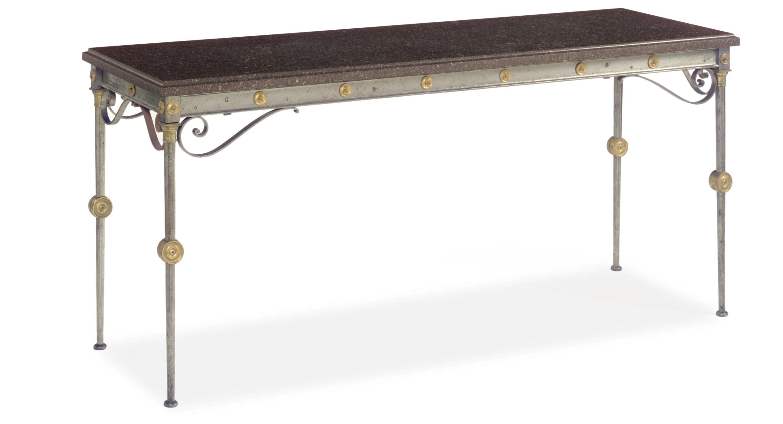 A FRENCH ORMOLU-MOUNTED STEEL