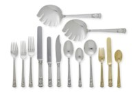 AN EXTENSIVE SILVER AND SILVER-GILT FLATWARE SERVICE**
