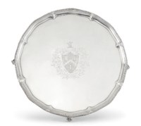 A GEORGE III SILVER TROPHY SALVER: THE WESTCHESTER, WON BY STYMIE