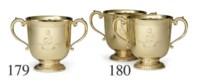 A PAIR OF GOLD TROPHY CUPS: SANTA MARGARITA HANDICAP