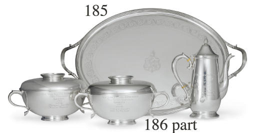 A GROUP OF SILVER AND SILVER PLATE TROPHIES WON BY HAIL TO REASON