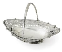 A GEORGE III SILVER TROPHY CAKE BASKET: THE AQUEDUCT FRIZETTE, WON BY PRICELESS GEM