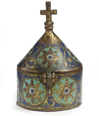 A LIMOGES CHAMPLEVE ENAMEL AND