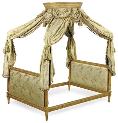 A FRENCH GILTWOOD BED
