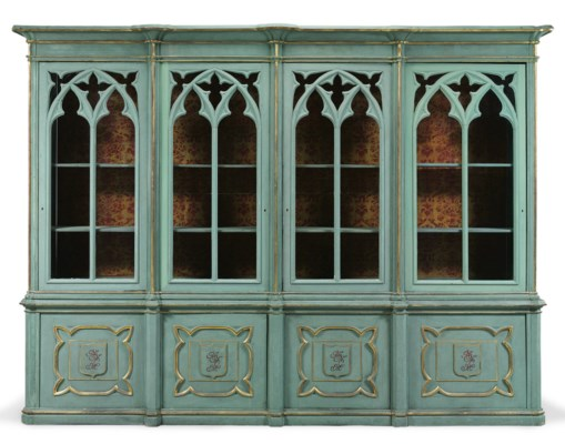 A NEO-GOTHIC STYLE BLUE-GREEN-