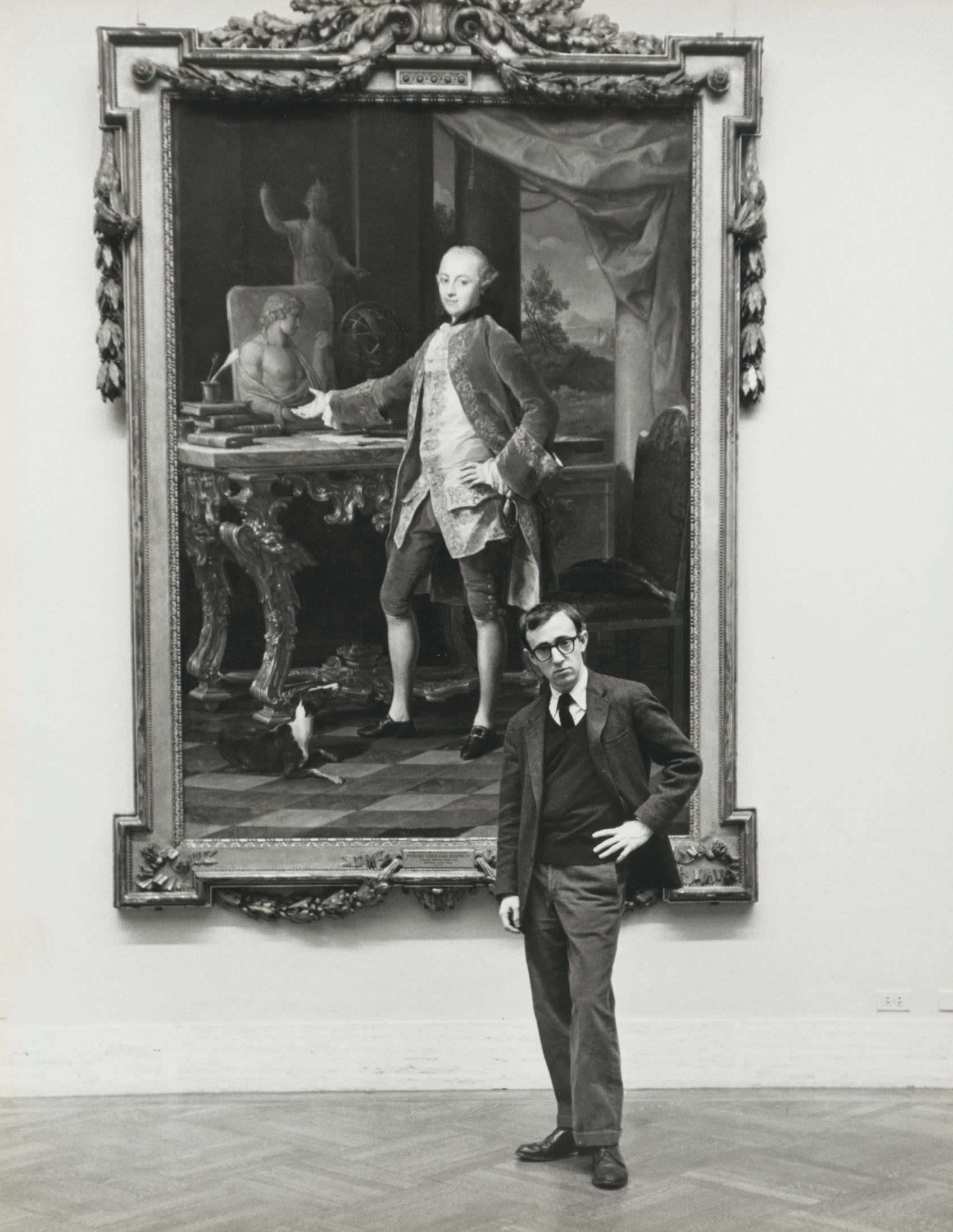 Woody Allen at the Metropolitan Museum, New York, 1963