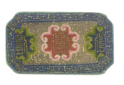 A RARE COUNTED-STITCH BELT BUC
