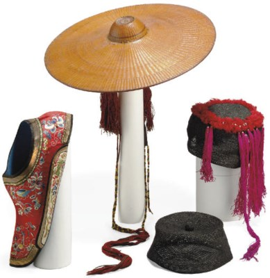 A GROUP OF FOUR HATS