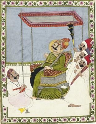 A portrait of Maharaja Vijay S