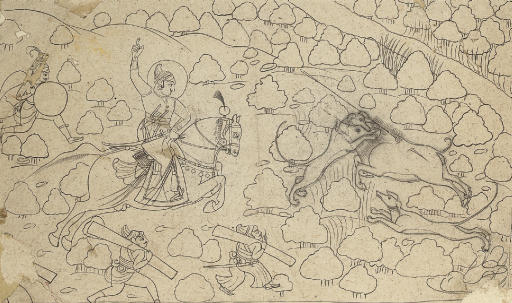 A ruler on a boar hunt