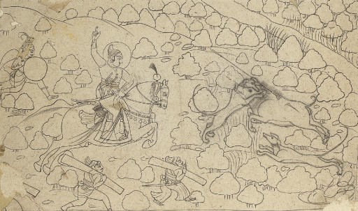 A ruler on a boar hunt