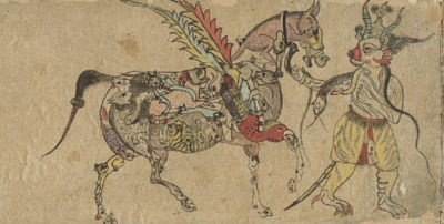 A demon with composite horse