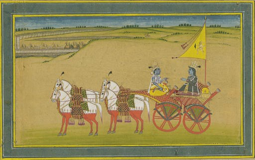 A Scene from the Mahabharata: