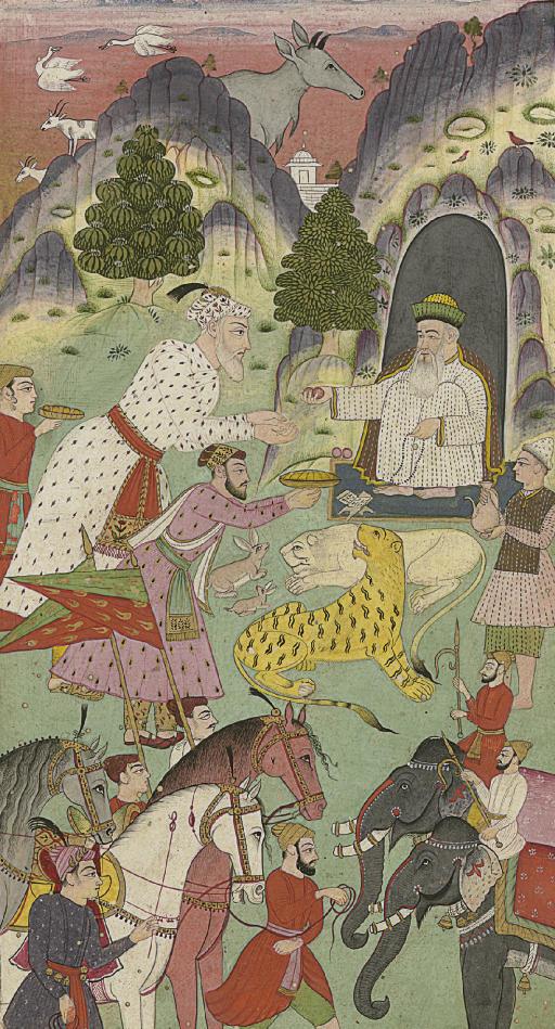 Aurangzeb visiting a sage