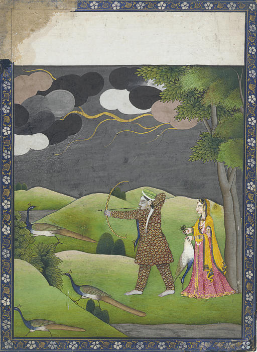 A peacock hunter with his lady