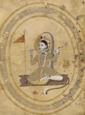 A painting of Harihara