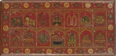 A pair of Jain Kalpasutra wood