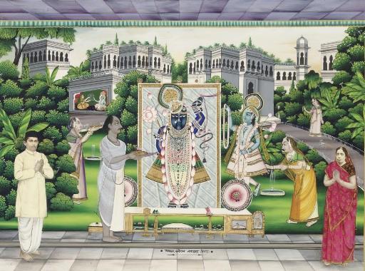A painting of Shri Nathji