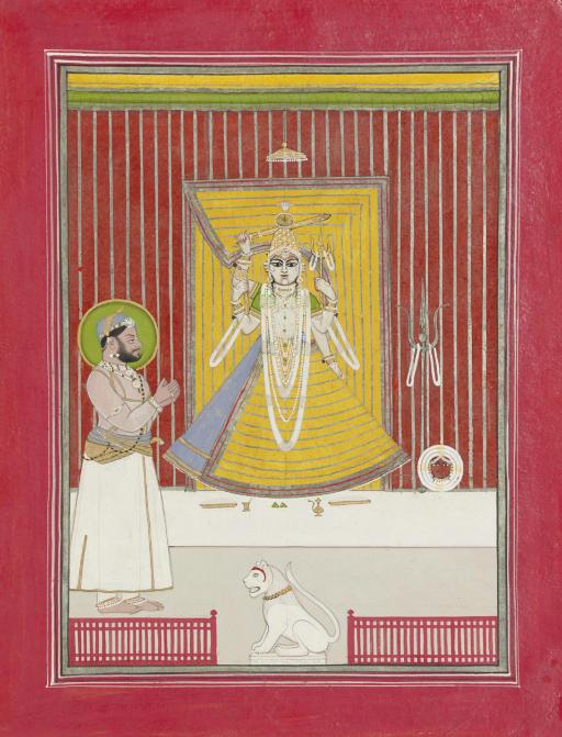 Ruler Worshipping Durga
