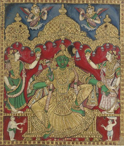 Krishna with attendants
