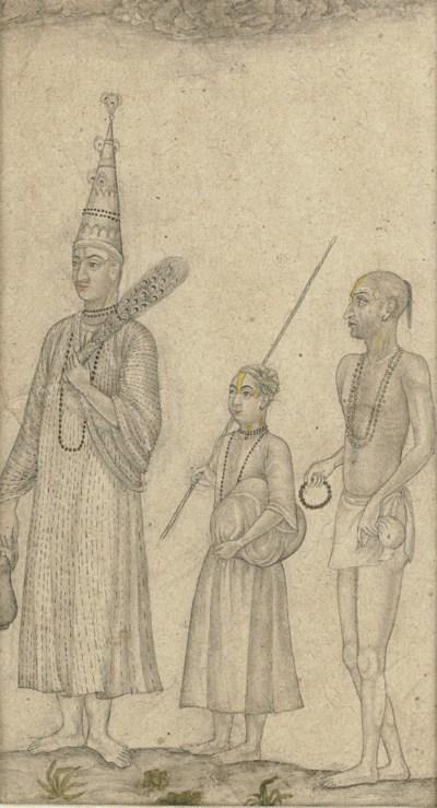Vaishnava Mohant with disciple