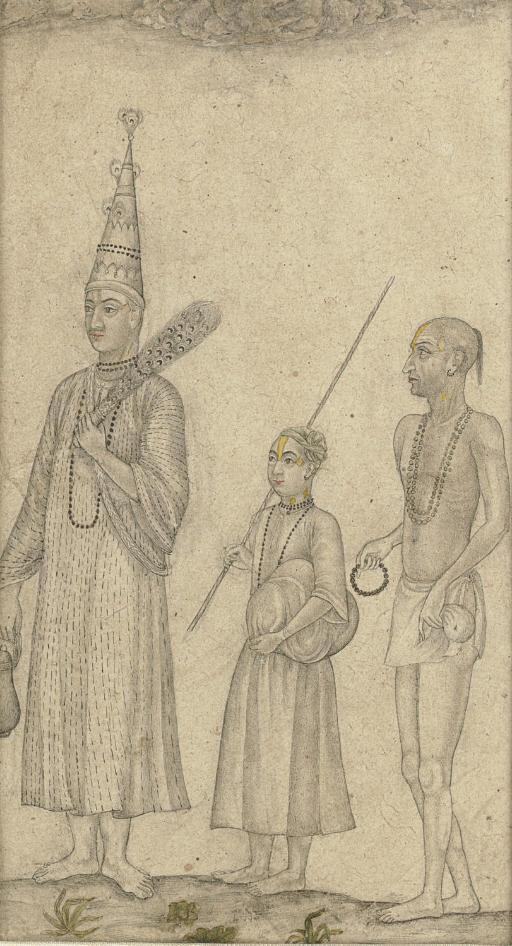 Vaishnava Mohant with disciples