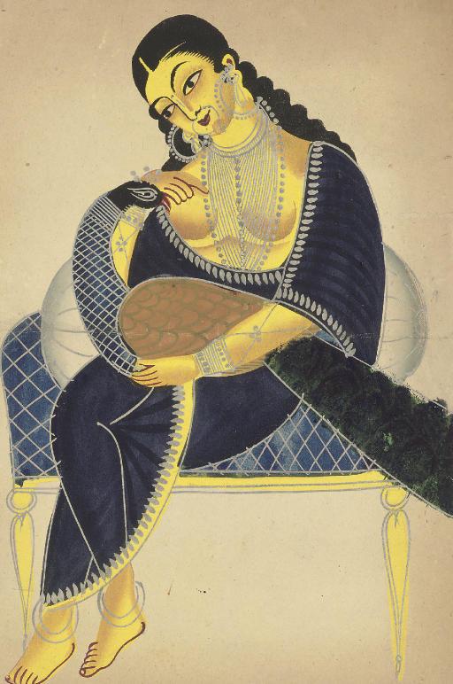 Goddess and Peacock