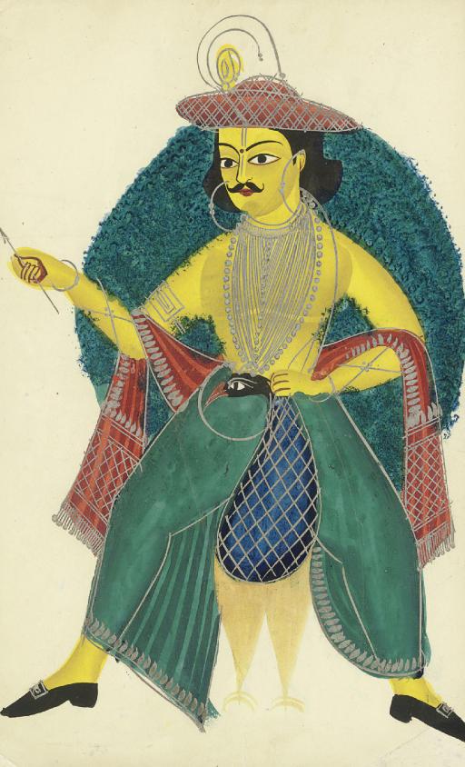 A Kalighat painting of Kartike