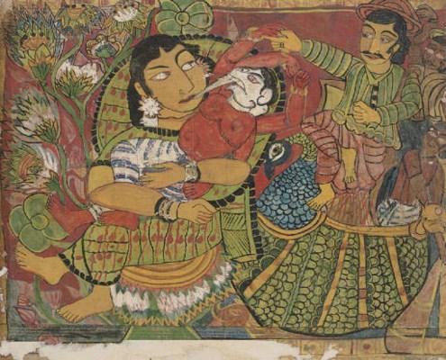 Painting with Parvati, Ganesh,