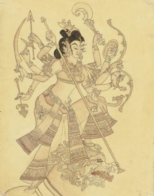 Durga slaying the buffalo demo