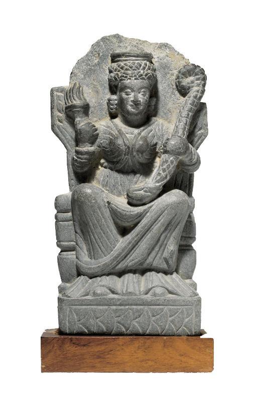 A gray schist figure of Hariti