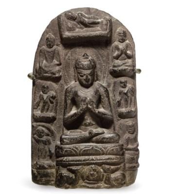 A small stone stele of Buddha