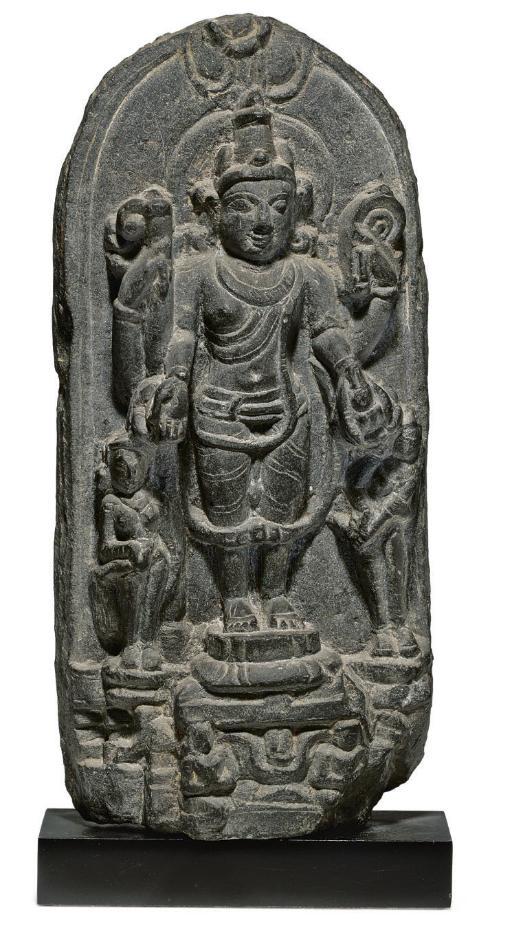 A stone stele of Vishnu