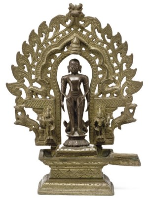 A copper and brass figure of B