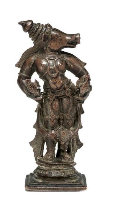 A copper figure of Varaha