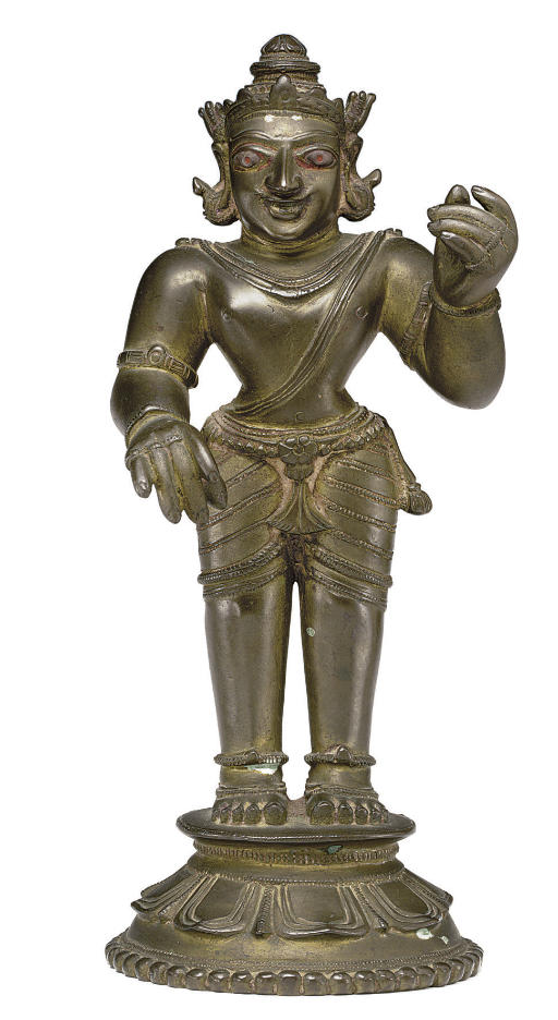 A brass figure of Vinadhara Kr