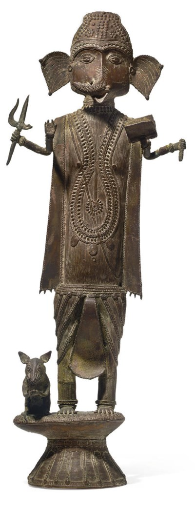 A bronze figure of Ganesh