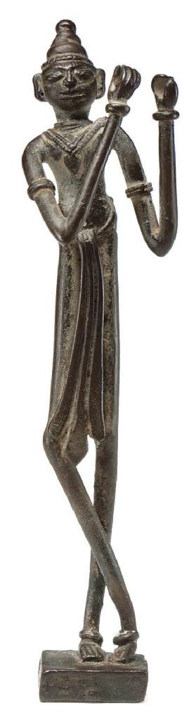 A bronze figure of Venugopala