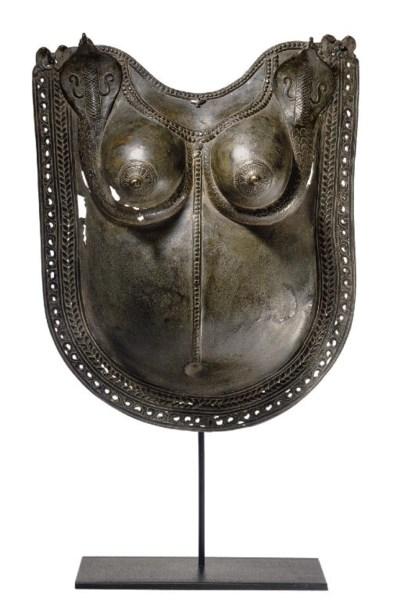 A bronze breast plate