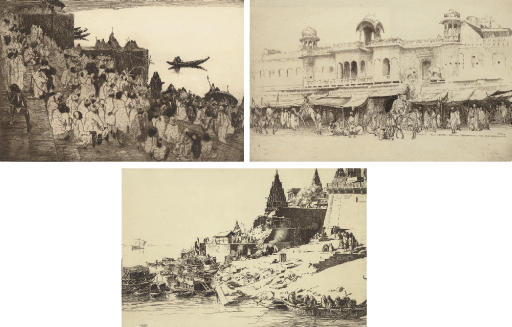 A group of three lithographs