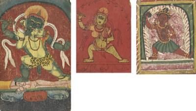 Three tsakli of Buddhist deiti