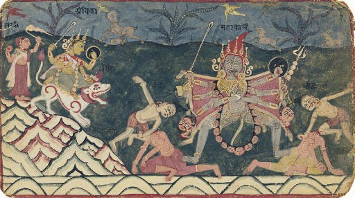 Illustration from a Devi Mahat