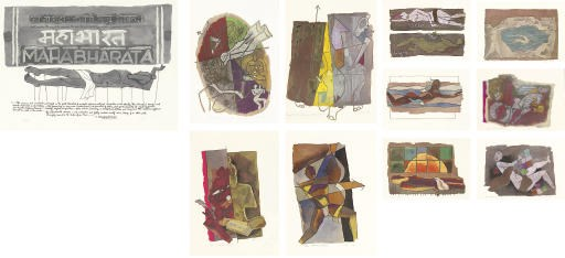 A set of eleven lithographs of