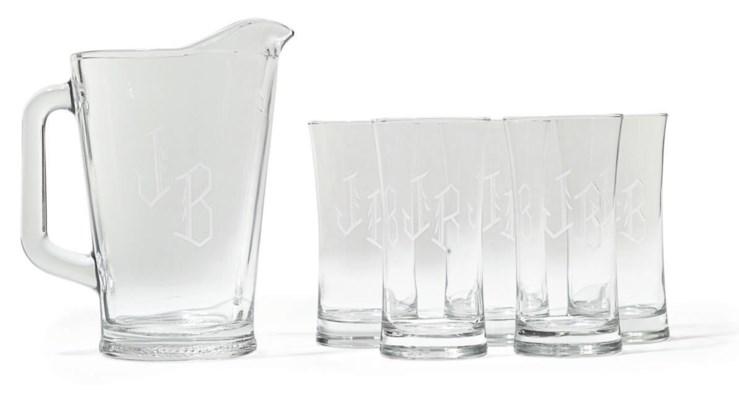 JB Pitcher and Glasses